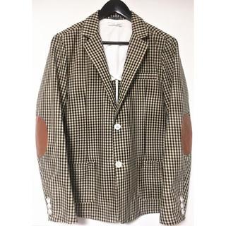 ザラ(ZARA)の売切り‼️ZARA MAN エルボーパッチチェックジャケット 50(テーラードジャケット)