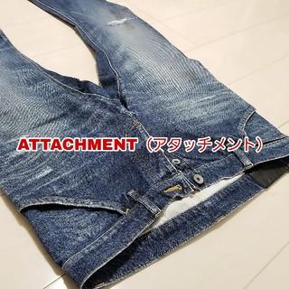 アタッチメント(ATTACHIMENT)の【ATTACHMENT】ダメージデニム(デニム/ジーンズ)