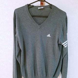 アディダス(adidas)のadidas Vネックセーター(ニット/セーター)