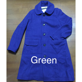 グリーン(green)のグリーンのコート未使用(ロングコート)