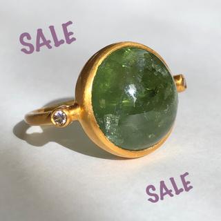 お抹茶グリーントルマリン×ダイヤモンドカボションリング 検索 マリーエレーヌ (リング(指輪))