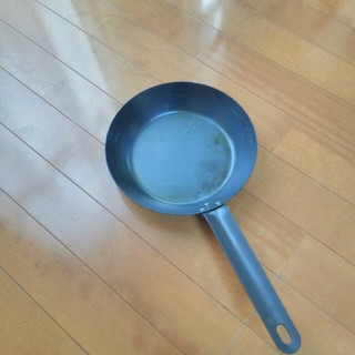 ムジルシリョウヒン(MUJI (無印良品))の無印良品 鉄フライパン 22cm(鍋/フライパン)