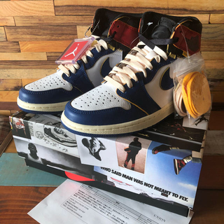 ナイキ(NIKE)のUNION×AIR JORDAN 1 RETRO HI NRG/UN BLUE(スニーカー)