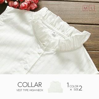 付け襟 ホワイト Lサイズ(つけ襟)