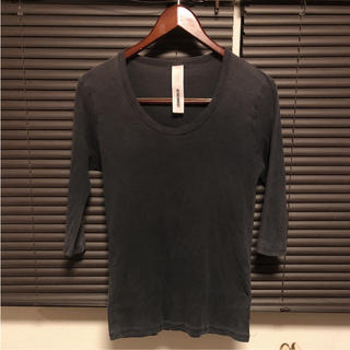 アタッチメント(ATTACHIMENT)のアタッチメント カットソー ウォッシュ加工 七分袖(Tシャツ/カットソー(七分/長袖))