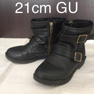 ジーユー(GU)の21cm エンジニアブーツ GU ジーユー ブーツ 21センチ 21 男女兼用(ブーツ)
