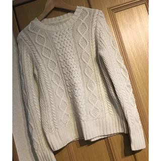 ムジルシリョウヒン(MUJI (無印良品))のMUJI ケーブル編み ニット(ニット/セーター)