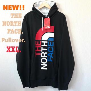 ザノースフェイス(THE NORTH FACE)の1枚のみ XXL相当 レアデザイン 新品 ノースフェイス パーカー 黒 正規品(パーカー)