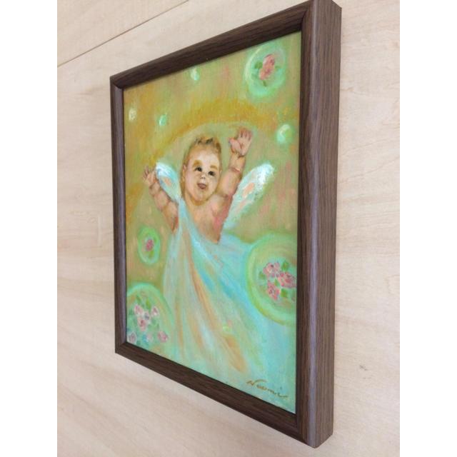 天使☆油絵 エンタメ/ホビーの美術品/アンティーク(絵画/タペストリー)の商品写真