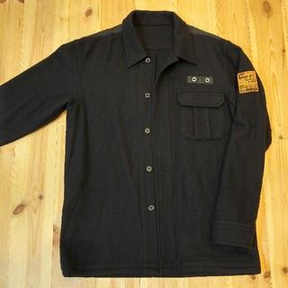 ピーピーエフエム(PPFM)のPPFM ジャケット メンズフリーサイズM~L 毛100% ブラック黒色(テーラードジャケット)