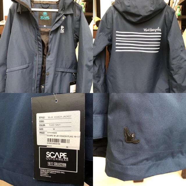 SCAPE スノーボードジャケット マークゴンザレスコラボ 新品 スポーツ/アウトドアのスノーボード(ウエア/装備)の商品写真
