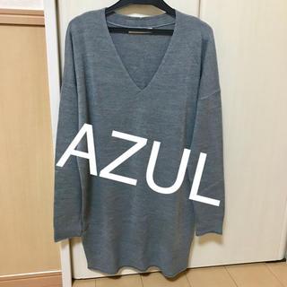 アズール(AZZURE)のAZULアズール グレーニット(ニット/セーター)
