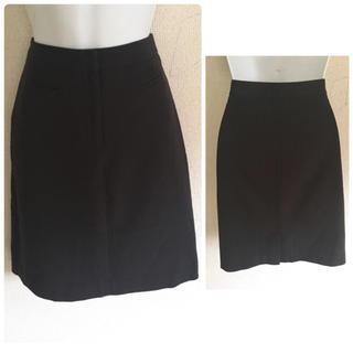 アンナモリナーリ(ANNA MOLINARI)のアンナモリナーリ ブラウン ウール スカート(ひざ丈スカート)