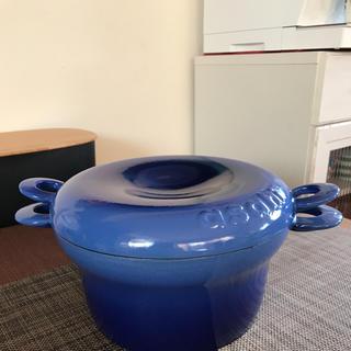アサヒケイキンゾク(アサヒ軽金属)のアサヒ軽金属 鋳鉄ホーロー鍋 コトコトインディゴブルー(鍋/フライパン)