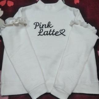 ピンクラテ(PINK-latte)のピンクラテ ホワイトトレーナー(Tシャツ/カットソー)