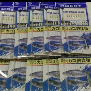 10点 ワカサギ仕掛け 1.5 白ハエ ヤマベ (釣り糸/ライン)