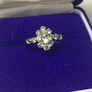 k18WG  ホワイトゴールドリング ダイヤモンド1ct  サイズ16号(リング(指輪))