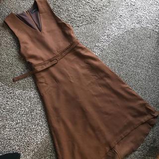ブラーミン(BRAHMIN)のブラウン  ジャンパースカート (ロングワンピース/マキシワンピース)