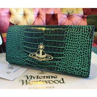 ヴィヴィアンウエストウッド(Vivienne Westwood)の新品★Vivienne Westwood オーブロゴ 牛革 クロコレザー長財布(財布)