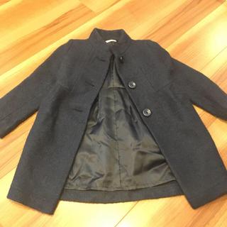 ジーユー(GU)のGU コート スタンドカラー 女の子 110 ネイビー 紺 キッズ(コート)