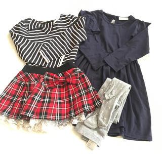 ジーユー(GU)のおしゃれ女子★110サイズ4枚おまとめセット(Tシャツ/カットソー)