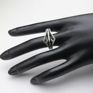 ダイヤデザインリング フラワー 13.1g D0.29 PT900 11(リング(指輪))