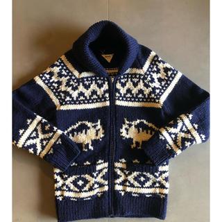 ロンハーマン(Ron Herman)のロンハーマン カウチンニット ニットジャケット 美品 Lサイズ(ニット/セーター)