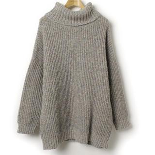 ナバアサナ(navasana)のnavasana オーバーサイズ タートルネックセーター(ニット/セーター)