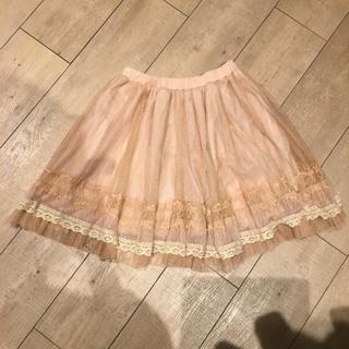 リズリサ(LIZ LISA)のLIZ LISA リズリサ チュールスカート ピンク(ひざ丈スカート)