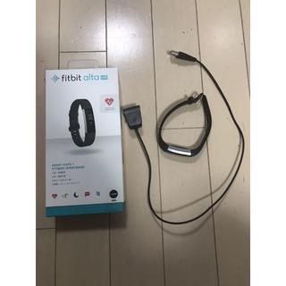 Fitbit AltaHR  Lサイズ ブラック おまけ付き(その他)