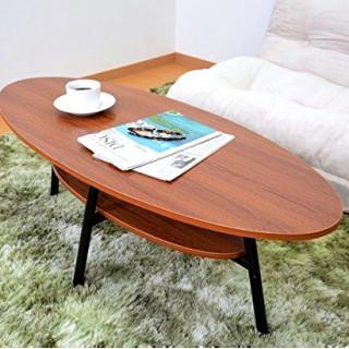 幅110cm 木製 円形センターテーブル(コーヒーテーブル/サイドテーブル)