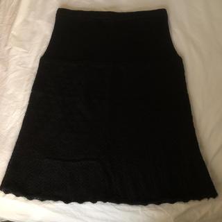 ムジルシリョウヒン(MUJI (無印良品))の✳︎美品 無印良品 マタニティ ニットスカート 黒 MーL✳︎(マタニティウェア)