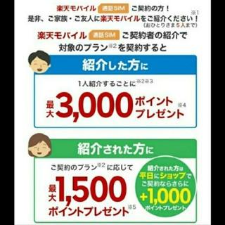 ラクテン(Rakuten)の即対応!楽天モバイル 紹介ID(その他)