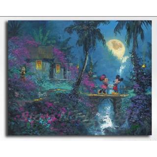 ディズニー(Disney)の【新品未使用】アートポスター ミッキーミニー 額付き 送料込み(ポスター)