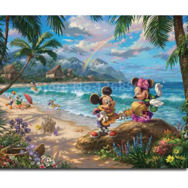 Disney(ディズニー)の【新品未使用】アートポスター リゾートミッキーミニー 額付き 送料込み エンタメ/ホビーのアニメグッズ(ポスター)の商品写真