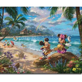 ディズニー(Disney)の【新品未使用】アートポスター リゾートミッキーミニー 額付き 送料込み(ポスター)