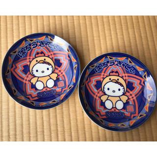 ハローキティ(ハローキティ)の【非売品】 未使用 ハローキティ 皿 2枚セット(食器)