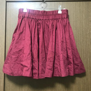 ローリーズファーム(LOWRYS FARM)の赤 フレアスカート(ミニスカート)