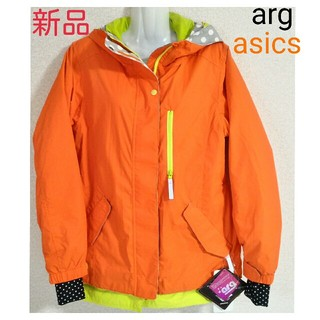 asics - 新品 ウェア スキー スノーボード スノーウェア オレンジ 水玉 アシックス M