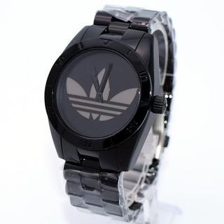 アディダス(adidas)のアディダス 腕時計 メンズ サンティアゴ ブランド 黒 人気 激安(腕時計(アナログ))