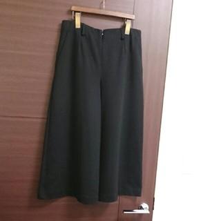 ❤TABASA❤オススメ《ストレッチウールガウチョ/ブラック》36サイズ(バギーパンツ)