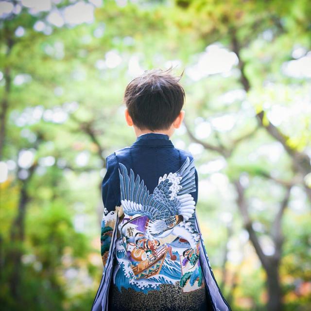 七五三男の子5歳着物袴 キッズ/ベビー/マタニティのキッズ服 男の子用(90cm~)(和服/着物)の商品写真