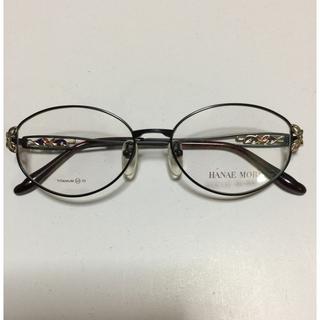 ハナエモリ(HANAE MORI)のハナエ モリ メガネフレーム 黒① チタン53(サングラス/メガネ)