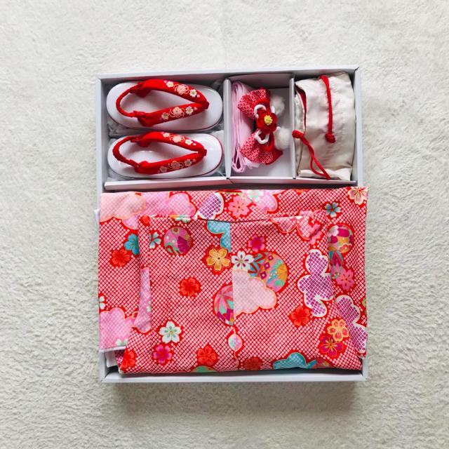 七五三女の子3歳着物被布 キッズ/ベビー/マタニティのキッズ服 女の子用(90cm~)(和服/着物)の商品写真