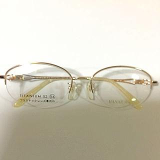 ハナエモリ(HANAE MORI)のハナエ モリ メガネフレーム ホワイトゴールド③(サングラス/メガネ)
