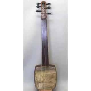 三味線フレットレス ギター   ショートスケール 山羊皮 ナイロン弦(その他)