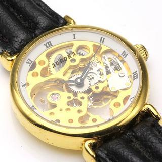 アウロラ(AURORA)のAURORA アウロラ 手巻き スケルトン 時計 ビンテージ アンティーク(腕時計(アナログ))