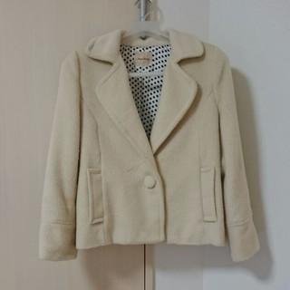 アンナケリー(Anna Kerry)のジャケットコート(ホワイト)(テーラードジャケット)