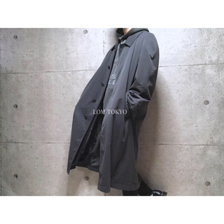 [used]mat black bal collar coat.(ステンカラーコート)