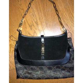 6bd59220d181 グッチ(Gucci)のグッチ ショルダーバッグ 黒スエード×カーフ(ハンドバッグ)